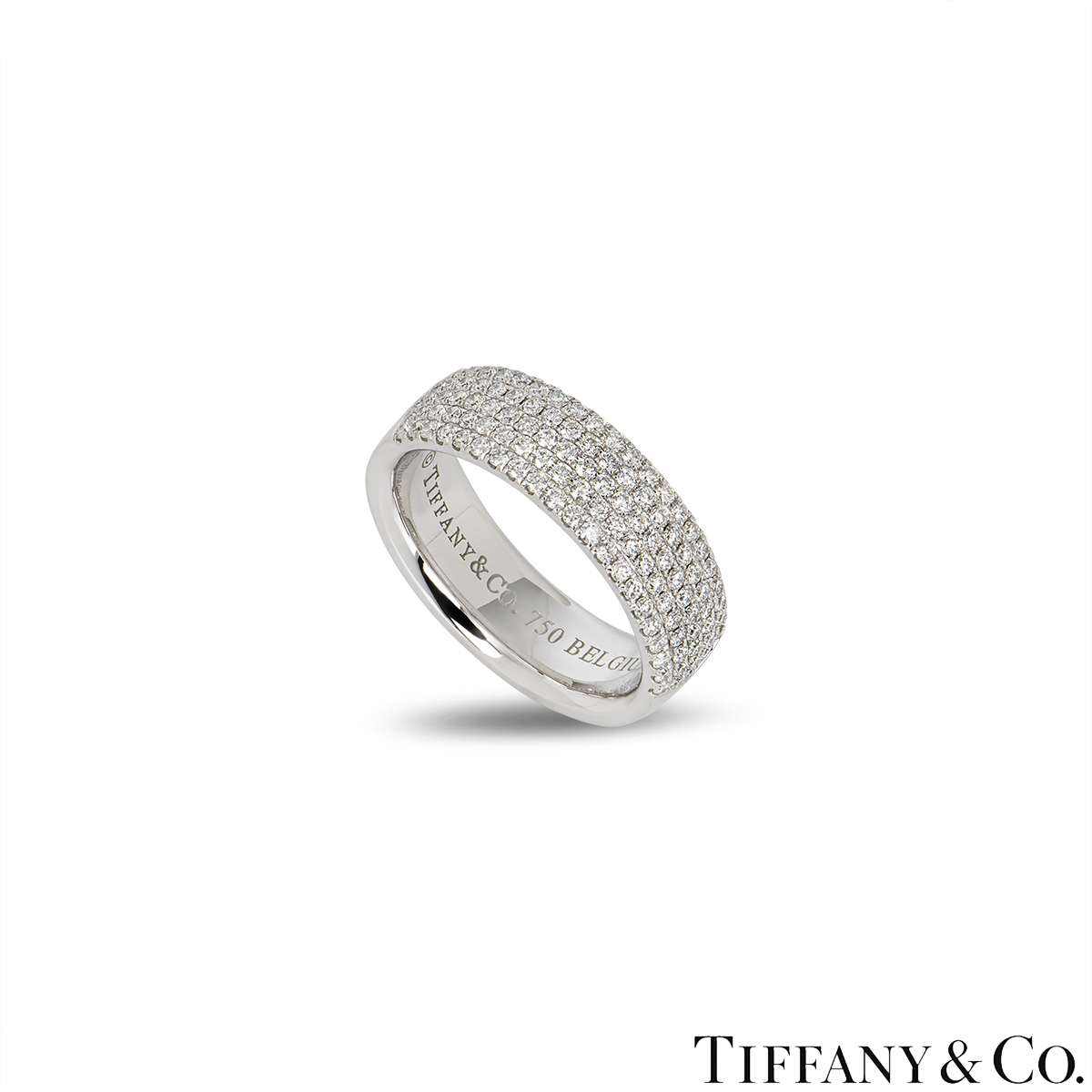 Tiffany & Co. White Gold Diamond Band Ring 0.76ct G/VS